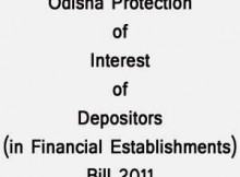 Odisha Protection of Interest of depositors Bill 2011