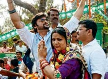 Anubhav Mohanty campaigns for BJD