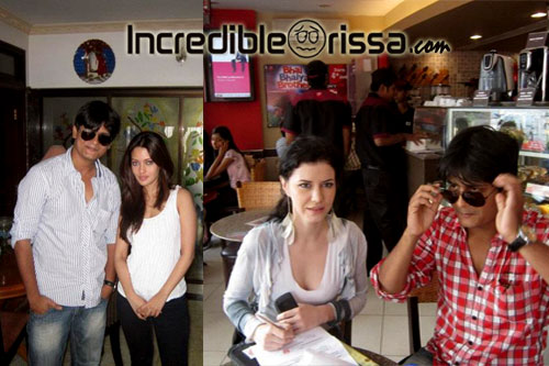 Riya Sen &amp; Katrine Kovi with Deepak Panda