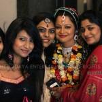 priya with oriya actresses at her marriage