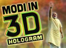3D Narendra Modi in Odisha