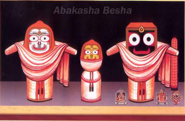 Abakasha Besha of Lord Jagannath