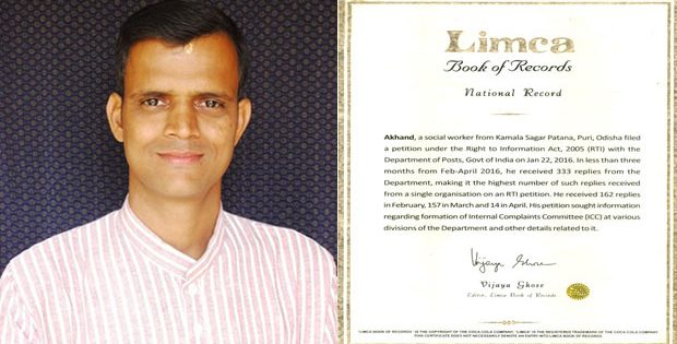 Akhand in Limca Book of Records