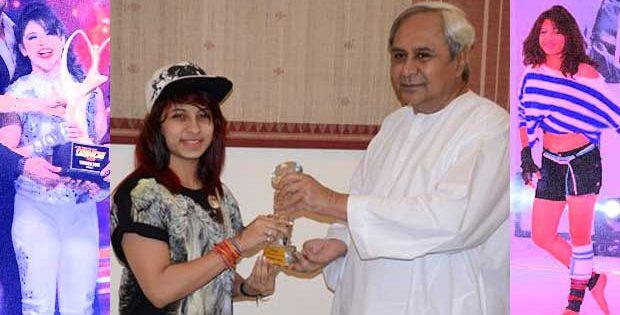 Alisha Behura with Odisha CM Naveen Patnaik