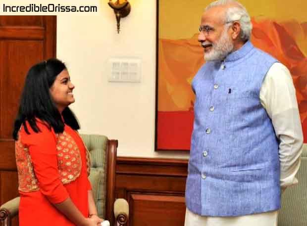 Ananya Sritam Nanda with Prime Minister Narendra Modi