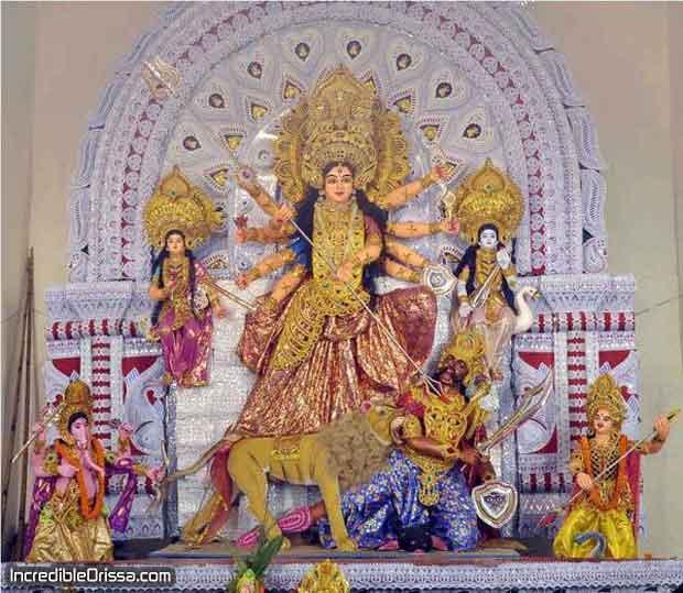 Baramunda Durga idol