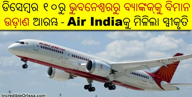 Bhubaneswar to Bangkok flight Air India