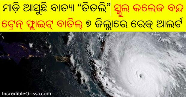 Cyclone Titli in Odisha