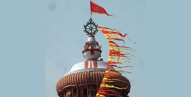 Flag changing in Jagannath temple
