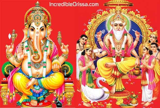 Ganesh Puja and Biswakarma Puja 2015