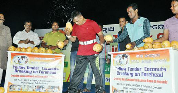 Keshab Swain in Limca Book of Records