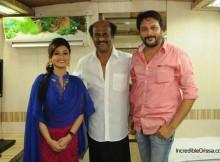 Koyel and Bobby Mishra with Rajinikanth