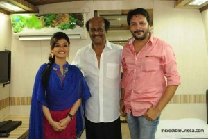 Koyel and Bobby Mishra with Rajinikanth