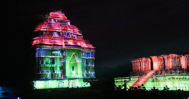 Light and Sound show at Konark Sun Temple