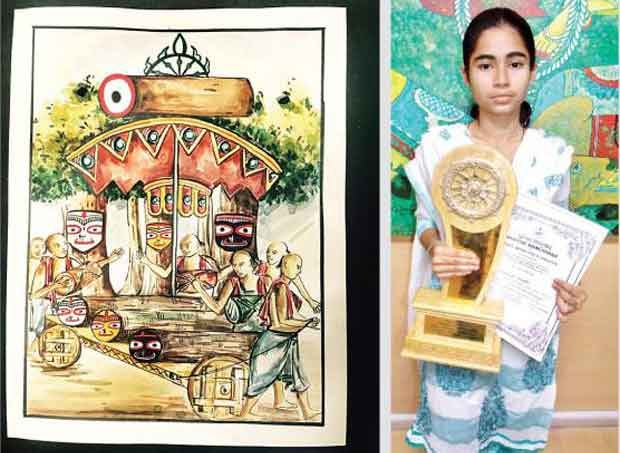 Muslim girl Jagannath painting