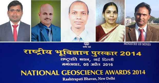 National Geoscience Awards Odisha scientists