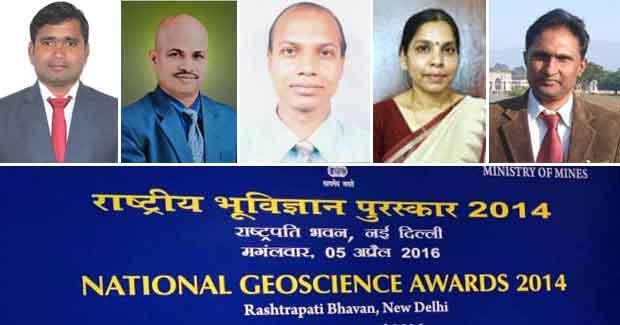 National Geoscience Awards Odisha scientists