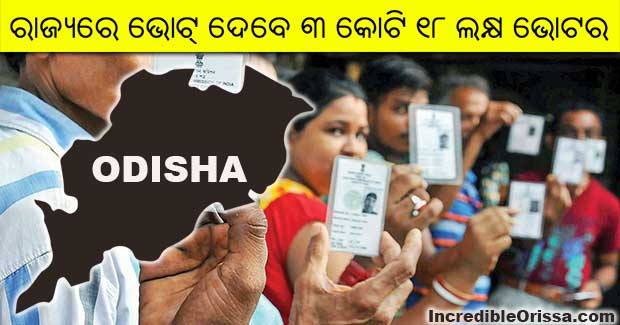 Number of voters in Odisha