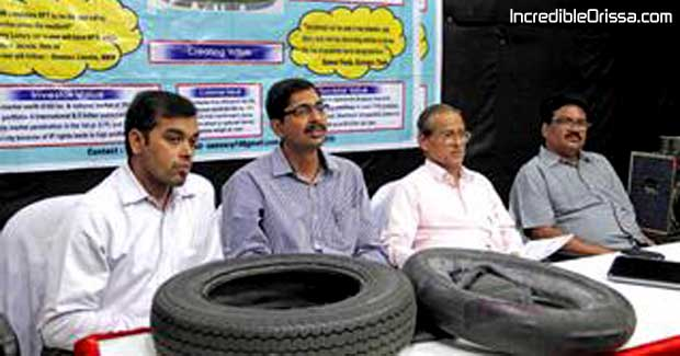 Odisha scholars puncture proof tyre