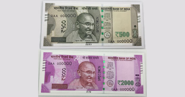Rs 2000 and Rs 500 new notes