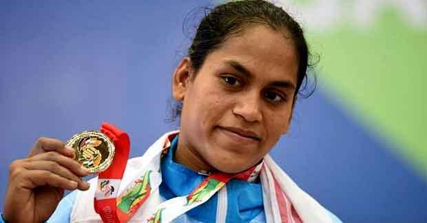 Saraswati Rout weightlifter