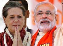 Sonia Gandhi and Narendra Modi