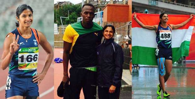 Srabani Nanda with Usain Bolt