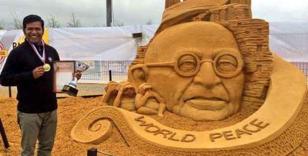 Sudarsan Pattnaik Moscow Sand Sculpture