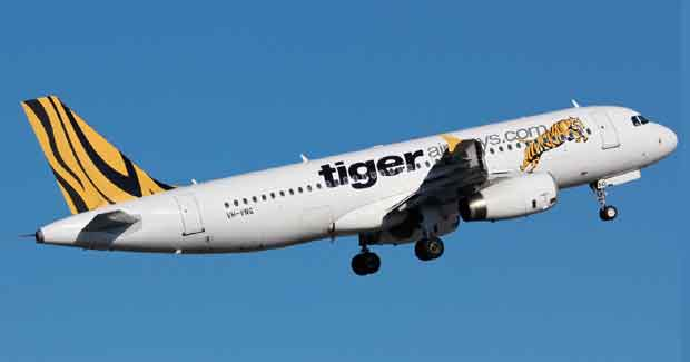Tigerair flight to Singapore from Bhubaneswar