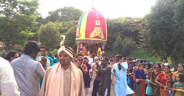 USA Jagannath temple Ratha Jatra