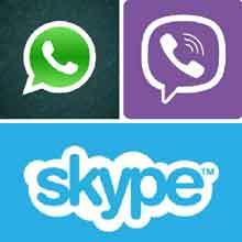WhatsApp, Skype, Viber