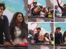 Anubhav, Barsha at Something Something 2 premiere show