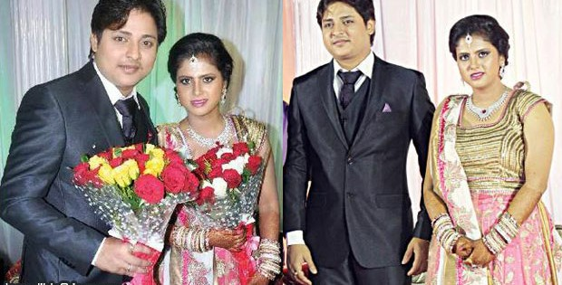 Babushan and Trupti marriage reception photo