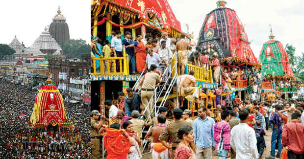 devotees ride chariots