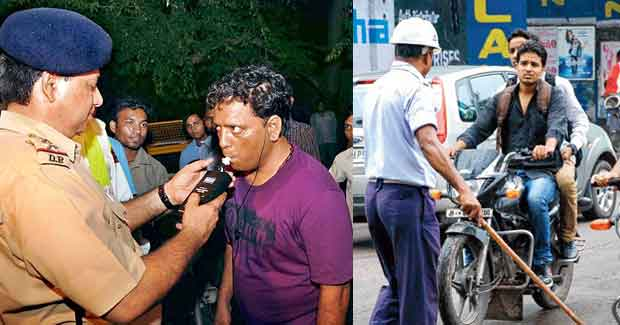 drunk driving without helmets fine
