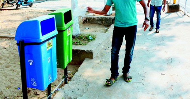 dustbins in smart city bhubaneswar