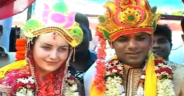 England girl Odisha boy marriage