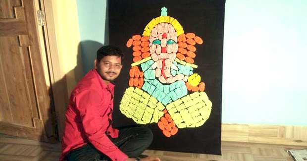 Ganesh idol using soaps record
