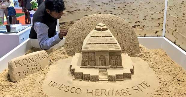 Konark sand sculpture