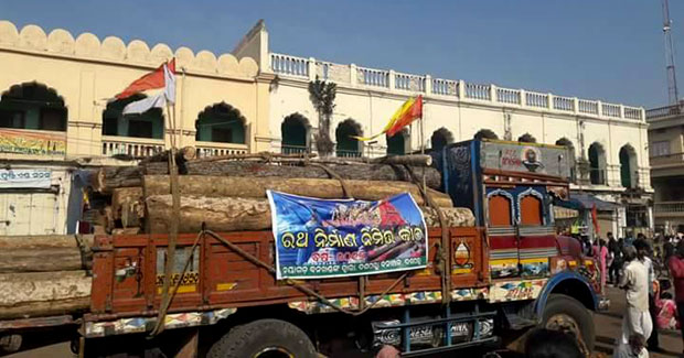 logs for rath yatra chariots