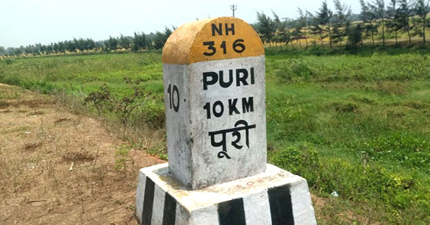 Odia missing from NH kilometer stones