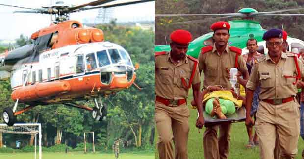 Odisha road accident victims airlifted