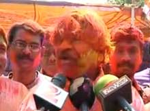 Odisha politicians in Holi