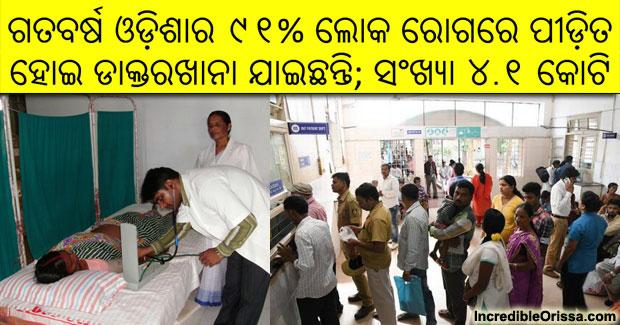 odisha population sick