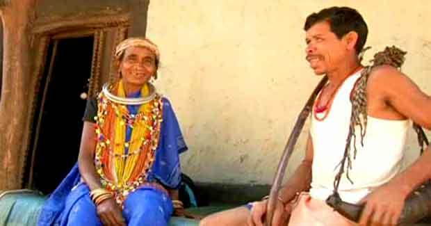 Odisha tribal couple from Bonda hills