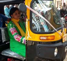 Odisha woman drives auto-rickshaw