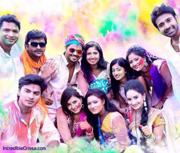 Odia serial artists in Holi