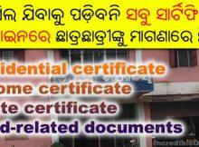 residential income caste certificate odisha