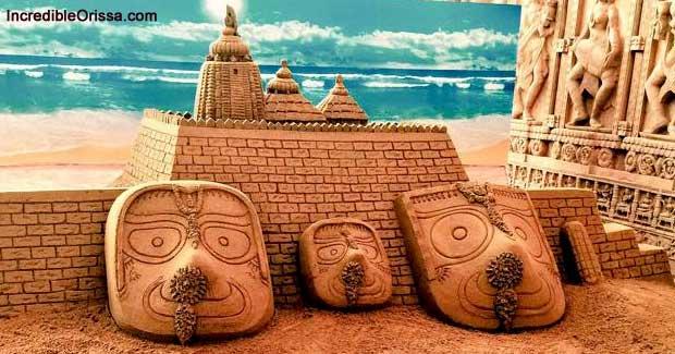 Sand Art on Deva Snana Purnima