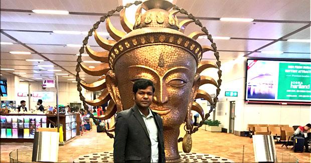Sand artist Sudarsan Pattnaik